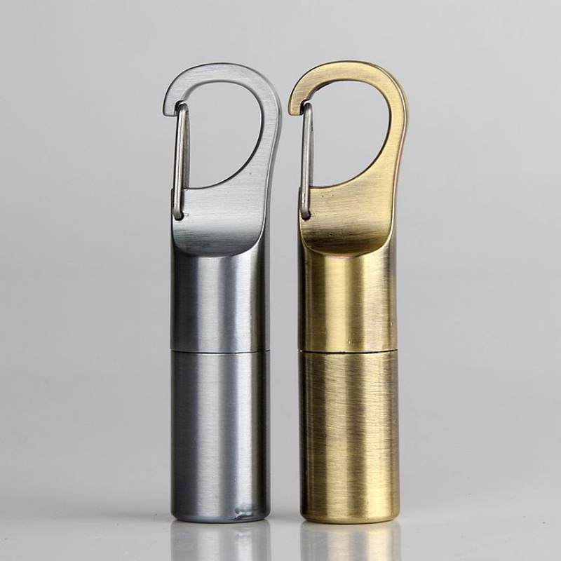 Hanging Buckle Mini Kerosene Lighter Capsule Gasoline Lighter Outdoor Key Chain Buckle Lighter Inflated Wheel Lighter Survival