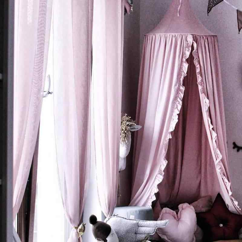 Tassel/Mesh/Lace Baby Canopy Mosquito Net Princess Bed Canopy Girls Room Decoration Bed Canopy Pest Reject Net Anti Mosquito