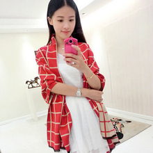 Plaid Cashmere Winter Blanket Pashmina Scarf For Women Desigual Tartan Snood Shawl Poncho Luxury Foulard Scarves