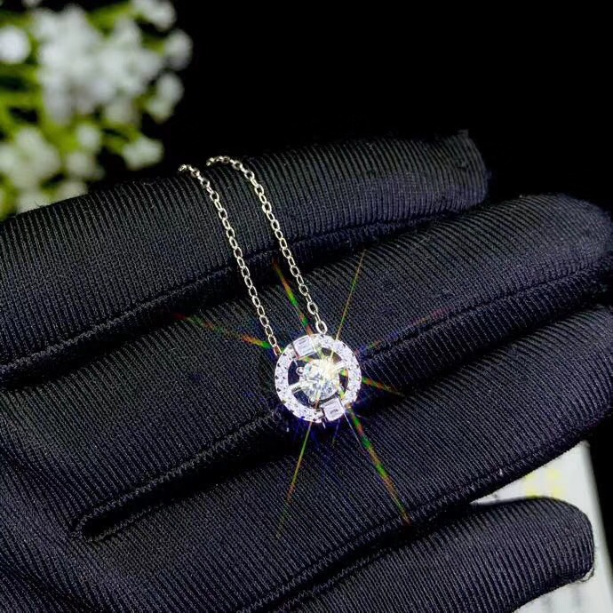 Moissanite Necklace,Special Product: 0.3 Carat Gemstone, 925 Sterling Silver. A Beautiful Lady's Necklace