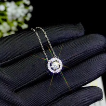 Moissanite שרשרת, מיוחד מוצר: 0.3 קרט חן, 925 סטרלינג כסף. יפה ליידי של שרשרת