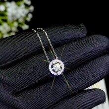 Moissanite ketting, Speciale product: 0.3 karaat edelsteen, 925 Sterling zilver. EEN Mooie dame Ketting