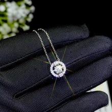 Moissanite, sản phẩm Đặc Biệt: 0.3 Carat đá quý, bạc 925. MỘT Nữ Đẹp cổ