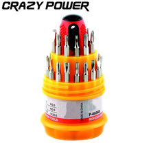 CRAZY POWER 31 in 1 Multi-purpose Precision Mini Magnetic  Hand Screwdriver Set  Household Hand Tool Kit with Trox Cross Box