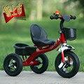 Triciclo de niños pedaleo bicicleta del niño caminante del bebé cochecito de juguete 2-5 años de edad