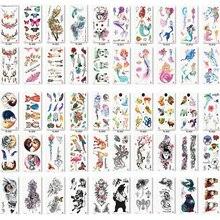 110 ピース/ロット偽女性男性 DIY ヘナボディタトゥーデザイン蝶木の枝鮮やかな一時的なタトゥーステッカー