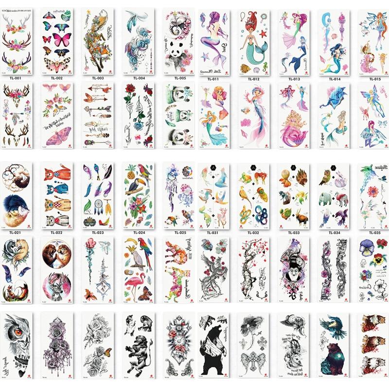 Güzellik ve Sağlık'ten Geçici Dövmeler'de 110 adet/grup Sahte Kadın Erkek DIY Kına Vücut Sanatı Dövme Tasarım Kelebek Ağaç Dalı Canlı Geçici Dövme Etiket'da  Grup 1