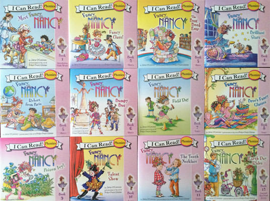 12pcs/lot Original Natural Picture Books I Can Read Phonics Books FANCY NANCY English Book For Baby Children Gift