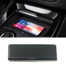 Для BMW X3 F25 X4 F26- 10 Вт QI Беспроводное зарядное устройство мобильное зарядное устройство Быстрая зарядка пластина держатель телефона аксессуары для iPhone 8