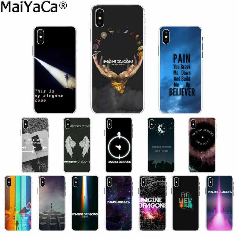 MaiYaCa imagine dragons night music DIY Printing Drawing Phone Case cover for Apple iPhone 8 7 6 6S Plus X XS MAX 5 5S SE XR