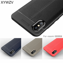 sFor Xiaomi Mi 8 Explorer Case Soft Luxury Armor Rubber Phone For Cover Mi8 Fundas