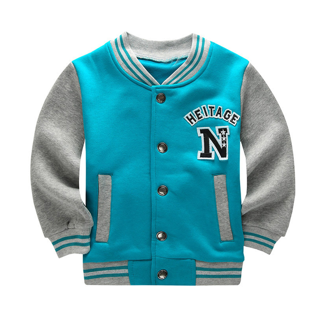 Spring Autumn Children Coat Letter Pattern Student Baseball Wear Boys Sweatshirt Girls Hoodies Casual Kid's Jacket Outerwear
