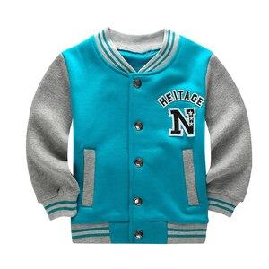 Image 3 - Wiosna jesień dzieci płaszcz wzór w napisy Student odzież baseballowa chłopcy bluza dziewczyny bluzy Casual dziecięca kurtka odzież wierzchnia
