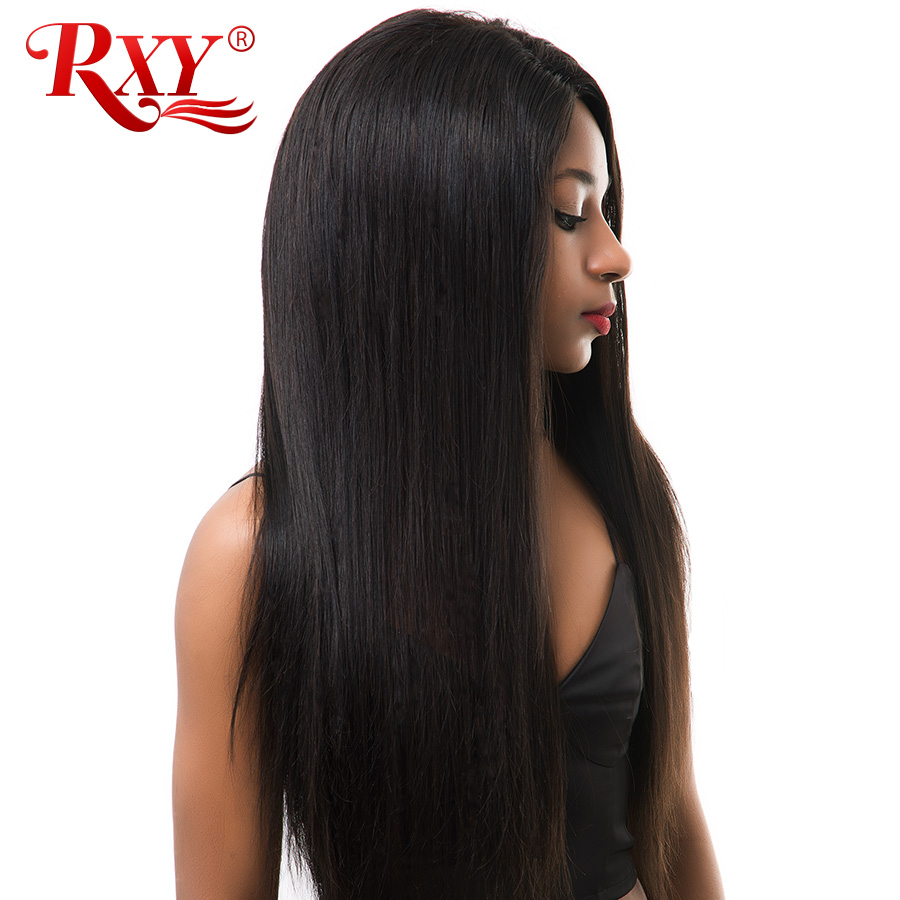 150 Density RXY Brazilian Straight Lace Front Human Hair Wigs For Black Women Glueless Pre Plucked