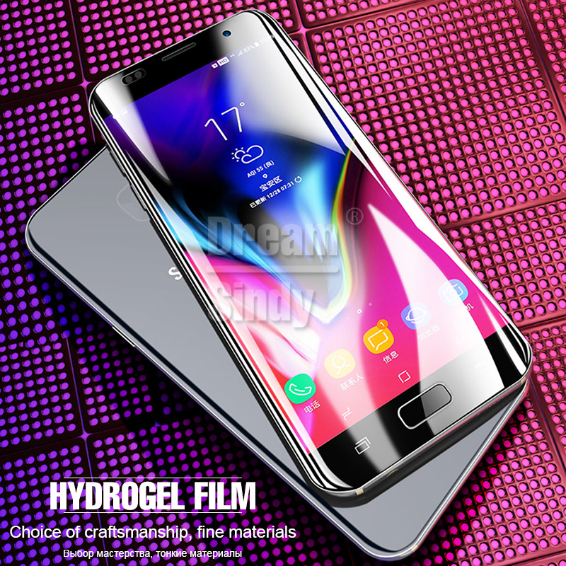 Full Cover Soft Protective Hydrogel Film For Samsung Galaxy S6 S7 Edge S8 S9 Plus Note 8 Screen Protector Film ( Not Glass )