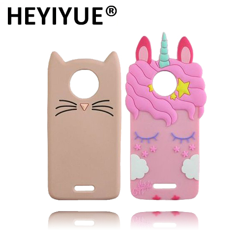 new concept 8470d 81bc4 US $3.51 |Cartoon Case For Moto C Plus Silicone Unicorn Cat Shape Soft  Mobile Phone Cases Cover For Motorola Moto C Plus-in Half-wrapped Case from  ...