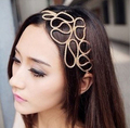 2016 women fashion Trendy Gold Elastic Hair Rope Weaved Headbands Hair ornament girl's hairbead free shipping