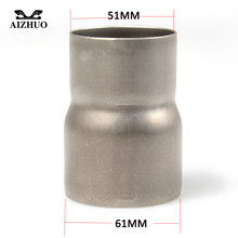 Motorcycle Exhaust Adapter Mild Convertor Pipe Tube 51mm 61mm Reducer Connector Conversion Interface