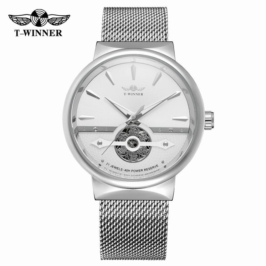 Top Brand Zelfoprollend Mechanisch Horloge 2018 Nieuwe Mode Eenvoudige Waterdichte Horloge 3D Skelet Wijzerplaat Transparant Back Horloge-in Mechanische Horloges van Horloges op  Groep 1
