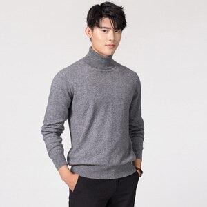 Image 5 - Chandails en laine et en cachemire, pull tricoté dans 11 couleurs, pull à col roulé, hiver, offre spéciale
