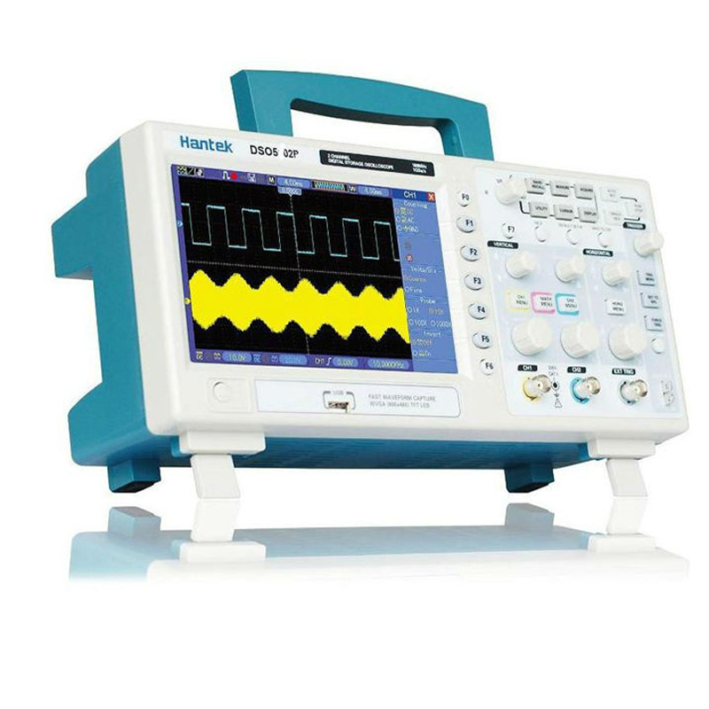 Hantek DSO5072P Digital Storage Oscilloscope 70MHz 2 CH 1GSa/s 7'' TFT LCD Record Length 40K USB AC110-220V Factory direct sales hantek dso5072p digital storage oscilloscope 70mhz 2 channels 1gsa s record length 40k usb 2ch