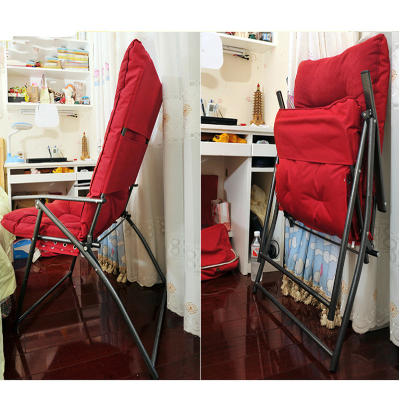 Купить с кэшбэком Lazy sofa folding chair office computer chair outdoor leisure chair large bearing capacity with a foot section free shipping