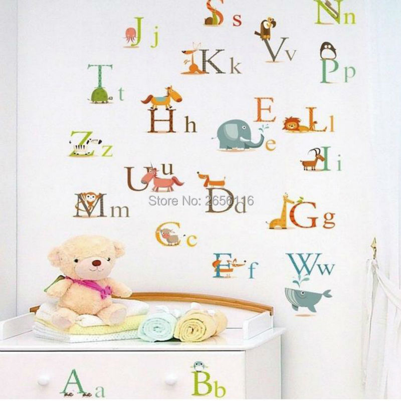 Diy Alphabet Wall Decor : Popular alphabet letter stickers buy cheap