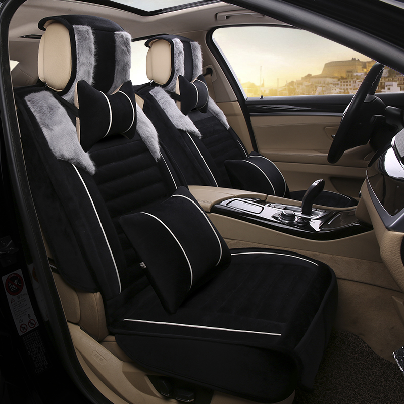 full cover fit design car seat cover plush car cushion for. Black Bedroom Furniture Sets. Home Design Ideas