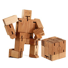 New Wooden Cube Robot Robotics/Puzzle Folding Assembling Educational Science Learning Toy Kids Gift/Home Decoration