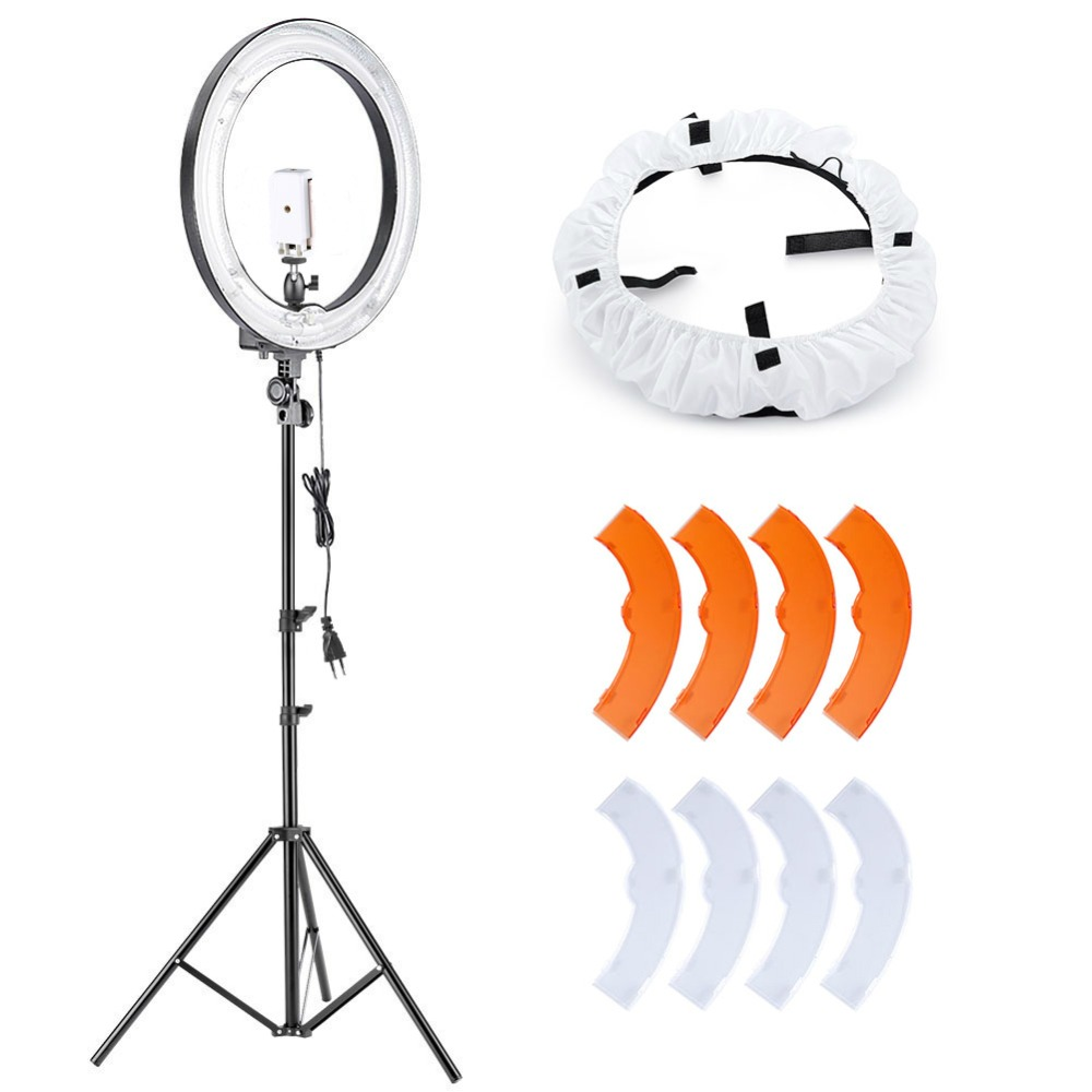 Neewer Camera Photo Video Lighting Kit:18 Inches 5500K Fluorescent Ring Light/Light Stand/Diffuser/Mini Ball Head/Phone Holder