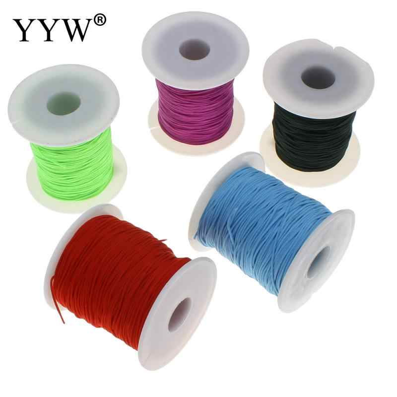 Muticolor Wholesale 1mm Roll Waxed Nylon Cord for Bracelet and Necklace Making Jewelry DIY Nylon Cord Thread Chinese Knot