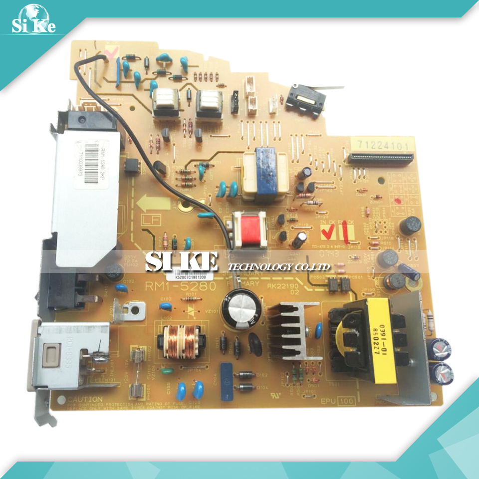 LaserJet  Engine Control Power Board For HP M1319 M1319F 1319 1319F RM1-5280 RM1-5281 Voltage Power Supply Board repalce paper roller kit for hp laserjet laserjet p1005 6 7 8 m1212 3 4 6 p1102 m1132 6 rl1 1442 rl1 1442 000 rc2 1048 rm1 4006