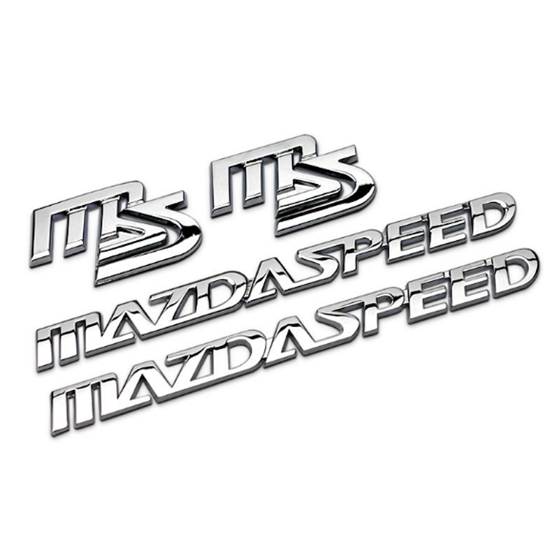 Dsycar 1Set 3D Metal MAZDASPEED Car Side Fender Rear Trunk Emblem Badge Sticker Decal for MAZDA 3 6 Car Styling Decorative
