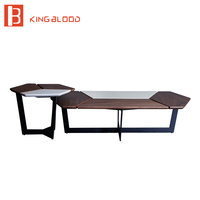 modern living room furniture wooden coffee table