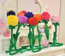 2005 85 baby plush toy 1pcs 85cm sunflower curtain buckle Cartoon plush flower curtain rose The