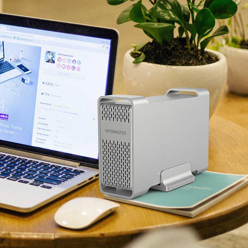 Carcasa de disco duro Yottamaster Sata a USB tipo C carcasa de disco duro externo de 2,5 pulgadas compatible con Raid para disco Duro de 7-15mm de 2,5 pulgadas