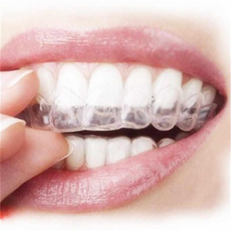 2 PCS Thermoforming Mouldable ปากฟันขาวฟอกสีฟันถาดปั้น Oral Care Gel Mouthguard ถาด Dropship