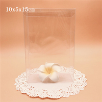 10*5*15cm Clear Transparent PVC Boxes Wedding Favor Packaging Souvenir Box PVC Package Box For Gift Candy