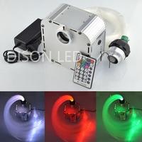 27 w RGBW LED Glasvezel Shooting Star Lihgit Kit 0.75mm & 1.0 & 2.0mm glasvezel 28key afstandsbediening licht motor