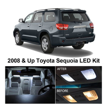 Free Shipping 11Pcs/Lot Xenon White Package Kit LED Interior Lights For Toyota Sequoia 2008 & Up