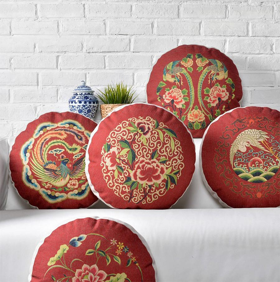 Round Decorative Pillows Compare Prices On Round Red Throw Pillows Online Shopping Buy Low