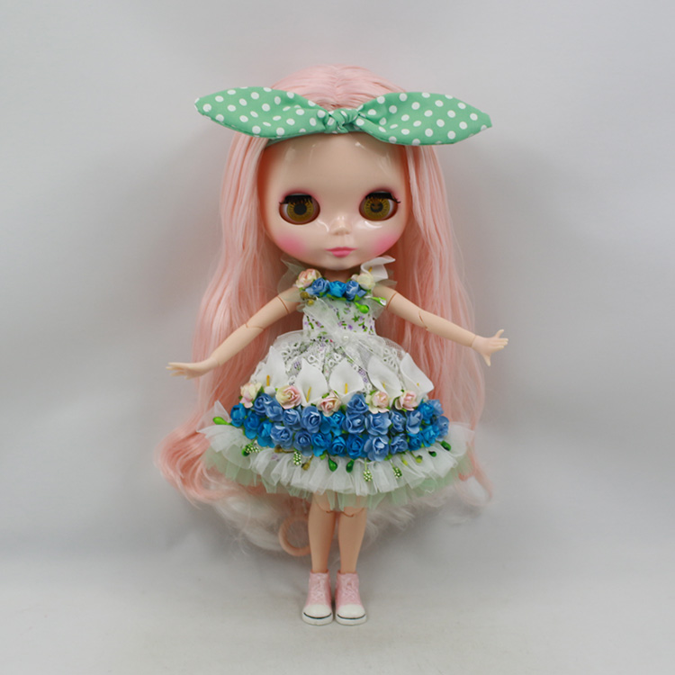 Free shipping Blyth doll nude joint body pink and white long hair fashion doll DIY bjd doll BL1362352 karmart cathy doll 2 in 1 vitamin c tint tinted gluta gloss pink lip korea free shipping