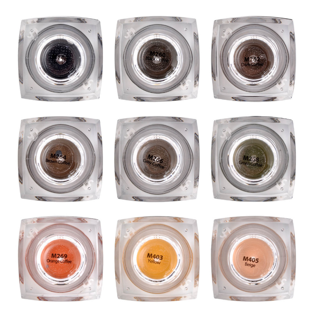 CHUSE Permanent Makeup Pigment Pro Brown Coffee Tattoo Ink Set For Eyebrow Lip Eyeliner Make Up Microblading Rotary Machine M264 13