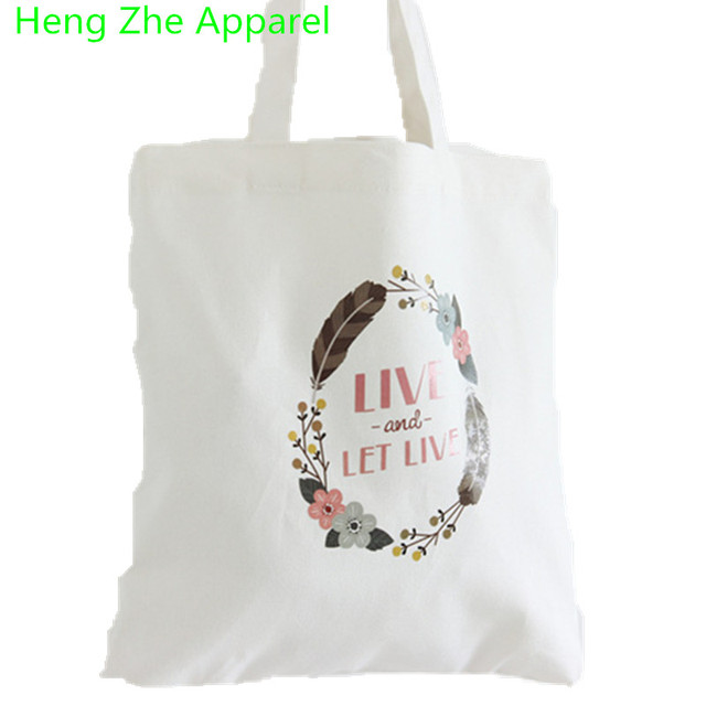 6a4ba55e9f HENGZHEAPPAREL Canvas Environmental Protection Women Shopping Bag Fashion  Ladies Handbags Tote Bag Casual Students Shoulder Bags