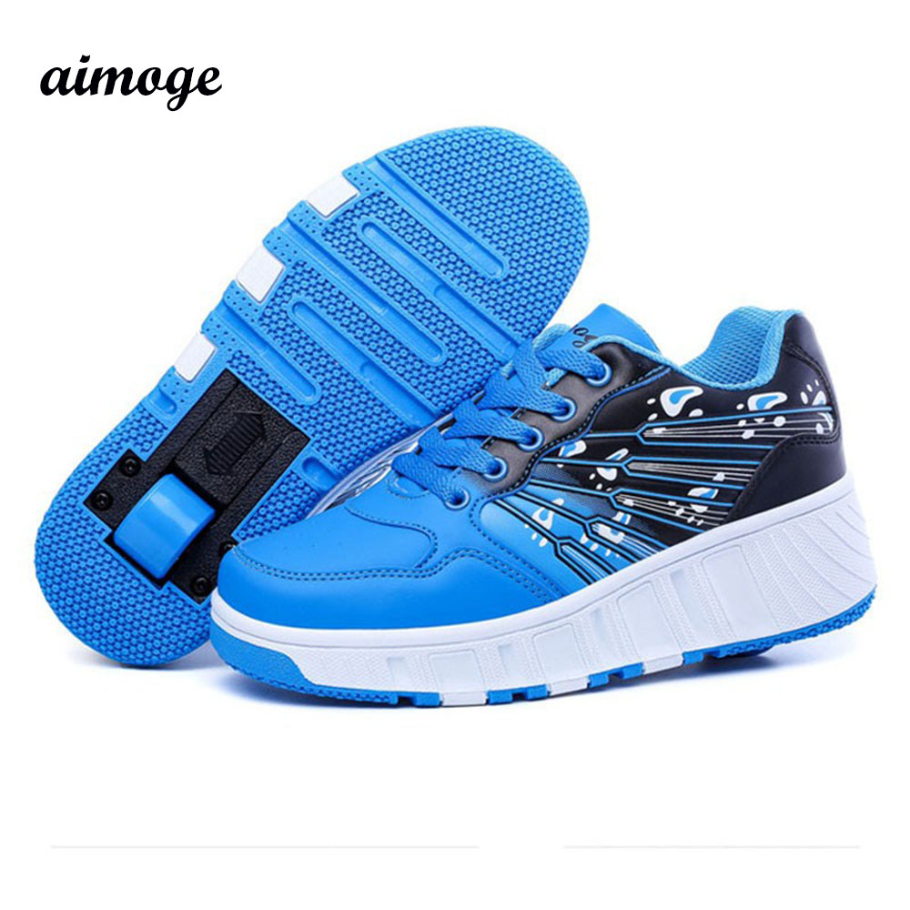 children shoe kids sneakers shoes wheels light weight Roller Skates girl boy tenis infantil zapatillas con ruedas  -  Your Brand Style store