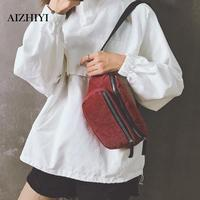 Vintage Corduroy Waist Bag Women Pouch Belt Bag Portable Female Girls chest Pack Messenger Shoulder Fanny Pack Heuptas Pochete