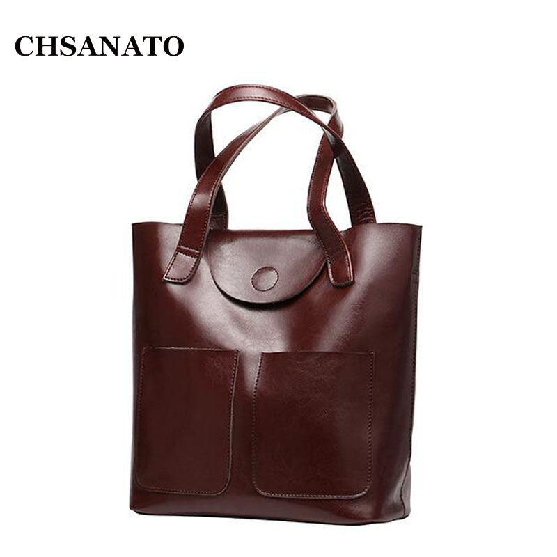 Real 100% Genuine Leather Bags Bucket Shopping Tote Bags Famous Designer Brand Handbags Large Ladies Shoulder Bags For Women tinyffa brand woman wallet female purse women credit card holder for phone coin purse clutch organizer leather ladies walet long