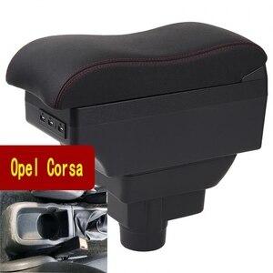 Image 1 - Accoudoir universel pour Opel Corsa D, boîte de rangement Central de voiture, cendrier support de verre, accessoires de modification