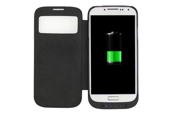 imágenes para Moda 4500 mah recargable back up cargador de batería de reserva externa de la energía bank funda para el samsung galaxy s4 siv i9500