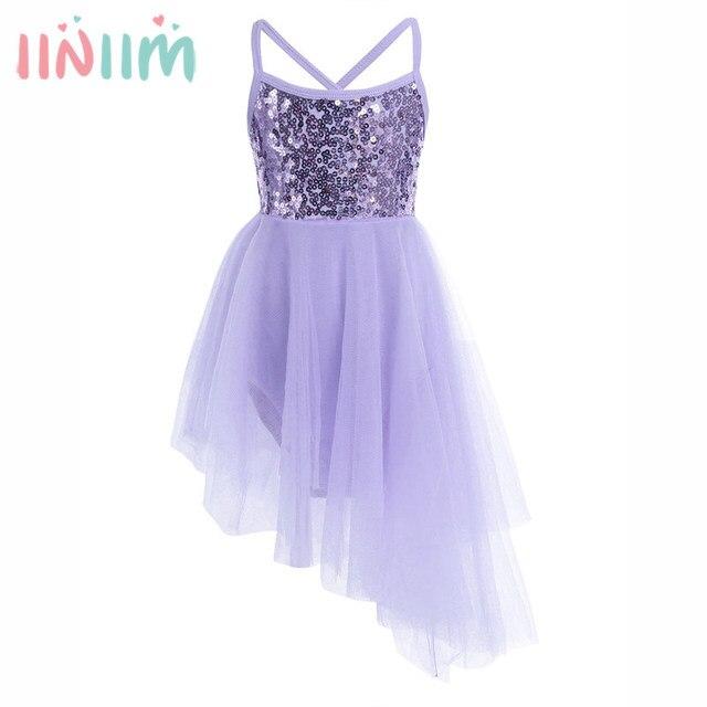 2-12 Ans iiniim Fille Danse Vêtements Filles Ballet Robe Enfants Robe de  Danseur Princesse 43b7902e556